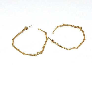 Large NYC Twig Hoop Earrings