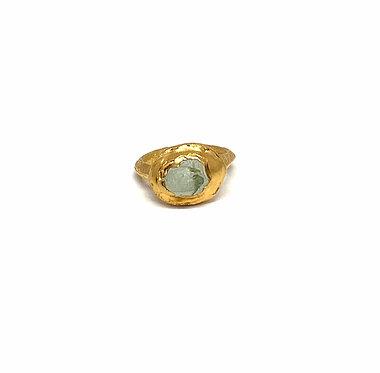 Transformed Ancient Roman Ring & Sea Glass