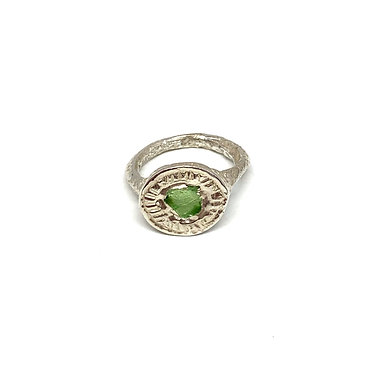 Ancient Roman Ring with Sea Glass