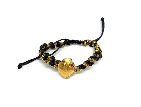 Heart Milagro Bracelet with and Metallic Accent
