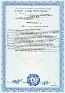 приложение 3 к сертификату соответствия