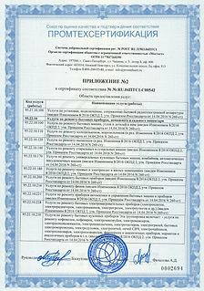 приложение 2 к сертификату соответствия