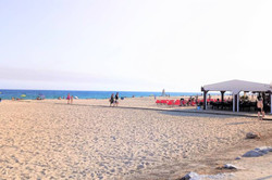 Beach in front of the apartment 1