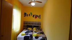 """""""bedroom III"""": 1 double bed, wardrobe, fan"""