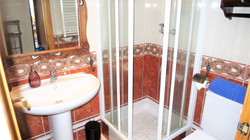 Bathroom I: shower, WC, hair dryer