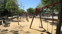 children´s playground in the near