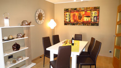 dining area, table and chairs