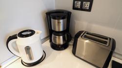 Kettle, coffee machine, toaster