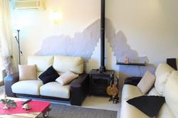 living room, sofas, oven