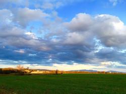 Wolken über Spanien