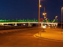 bridge to the city, close to the apartment