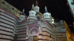 """church of """"St. Romà"""" by night"""