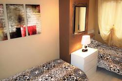 Bedroom III 2 single beds, commode, mirr