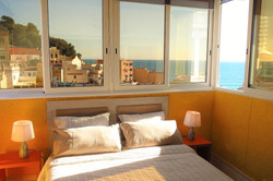 Bedroom I 1 double bed, sea view..
