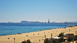 fantastic view from the terrace to Barcelona skyline