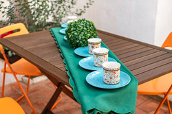 table in the patio