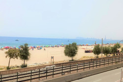 view from the little balcony to beach an