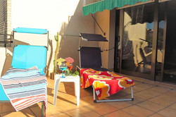 Sun terrace, sun loungers