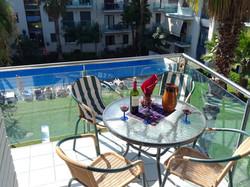 Balkon und Wein