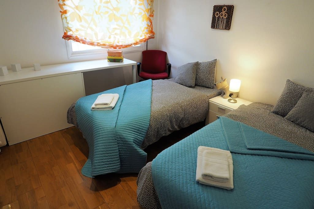 Bedroom IV 2 single beds, wardrobe