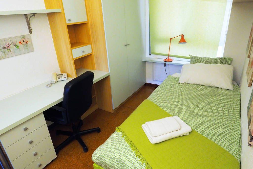 Bedroom IV: 1 single bed, desk, wardrobe