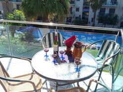 Balkon Wein