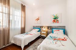 Bedroom III: 2 single beds, wardrobe