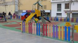 children´s playground near to the apartment