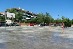 Football and basketball ground withi