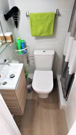 Bathroom II: WC, shower, hair dryer.