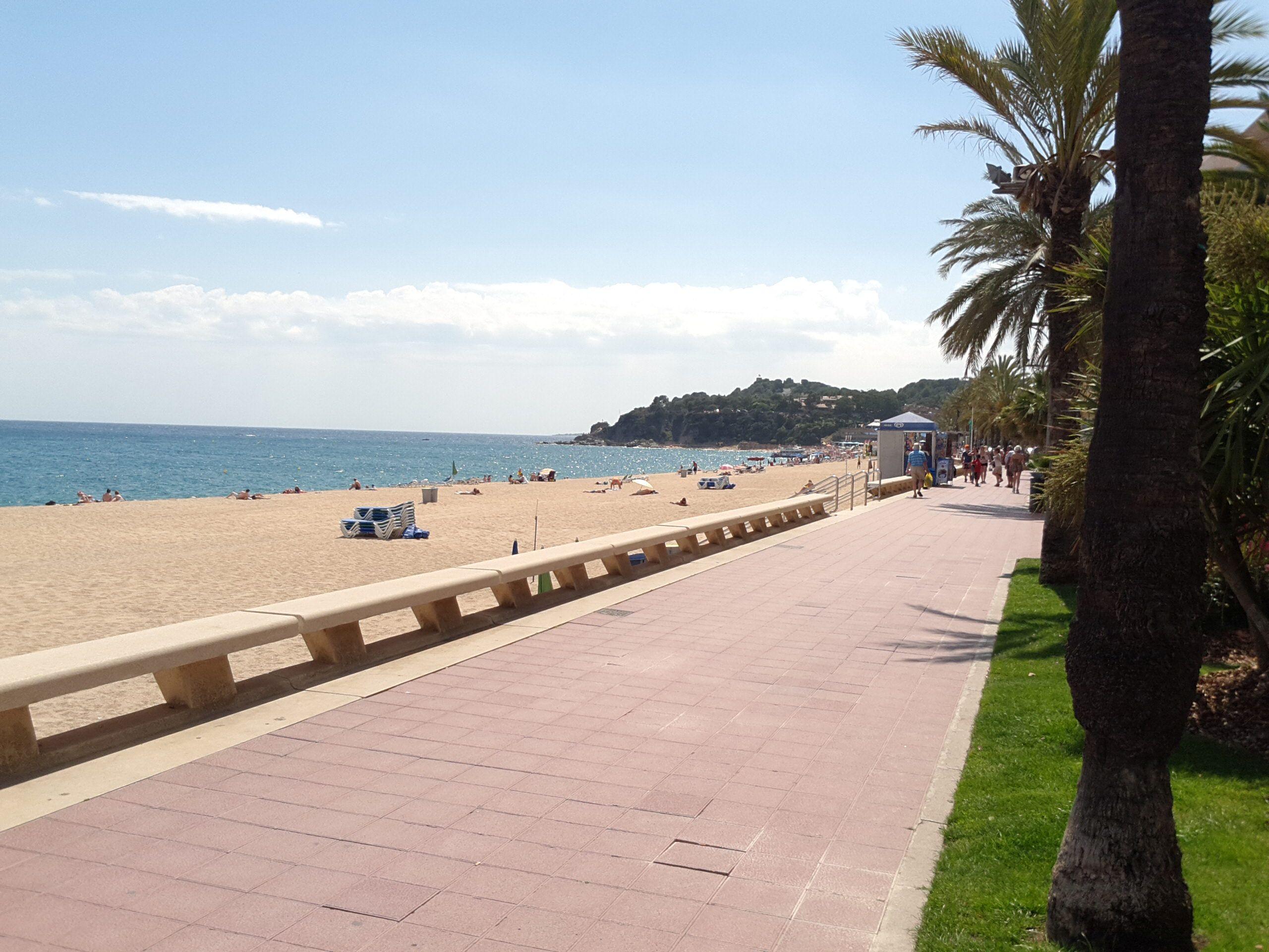 beach and promenade