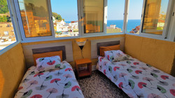 Bedroom IV 2 singl bed, view sea