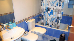 Bathroom: bath-tube/shower, bidet, h