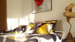 """bedroom I"": double bed, balcony door, bedside tables, wardrobe"