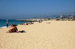Sand beach of El Masnou