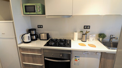 Dish washer, kettle, coffee machine, toaster, microwave, oven