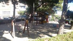 children´s playground close to the apartment