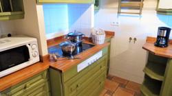 Micro, fridge, freezer, oven, dish washer, toaster, coffee machine, kettle.