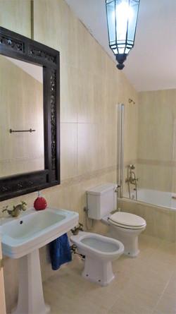 Bathroom II: Bath-tube/shower, bidet, hair dryer