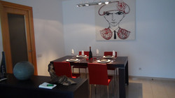 dining room with modern furnitures