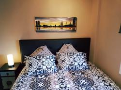 Bedroom III: 1 double bed, bedside t