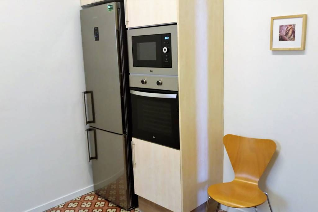fridge and freezer, micro waves, oven