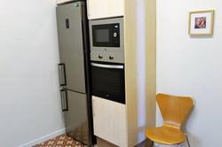 fridge and freezer, micro waves, oven
