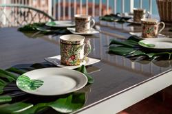 table on the balcony