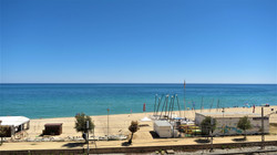 fantastic view from the terrace to the sea and the beach