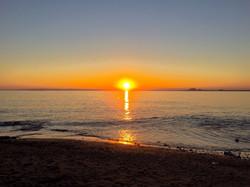 Sonnenuntergan über dem Meer