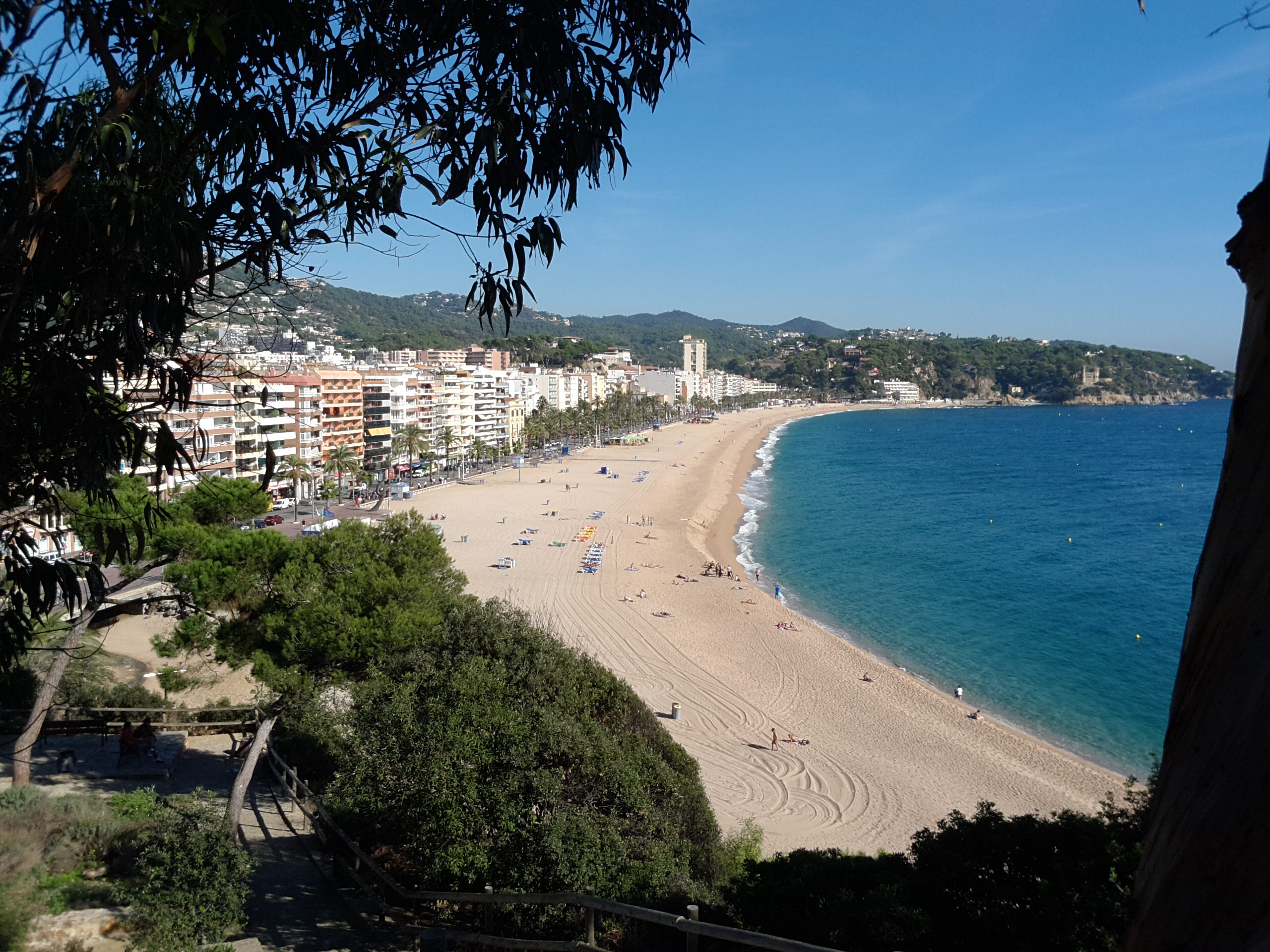 view to the beach of Lloret de Mar