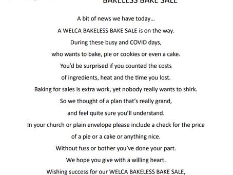 Thanksgiving WELCA Bakeless Bake Sale