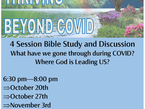 THRIVING BEYOND COVID: Let Go, Trust GOD, and RISE UP...