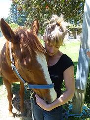 Briar treating a horse